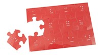 Braille Jigsaw Puzzle 5x7- 12 pieces