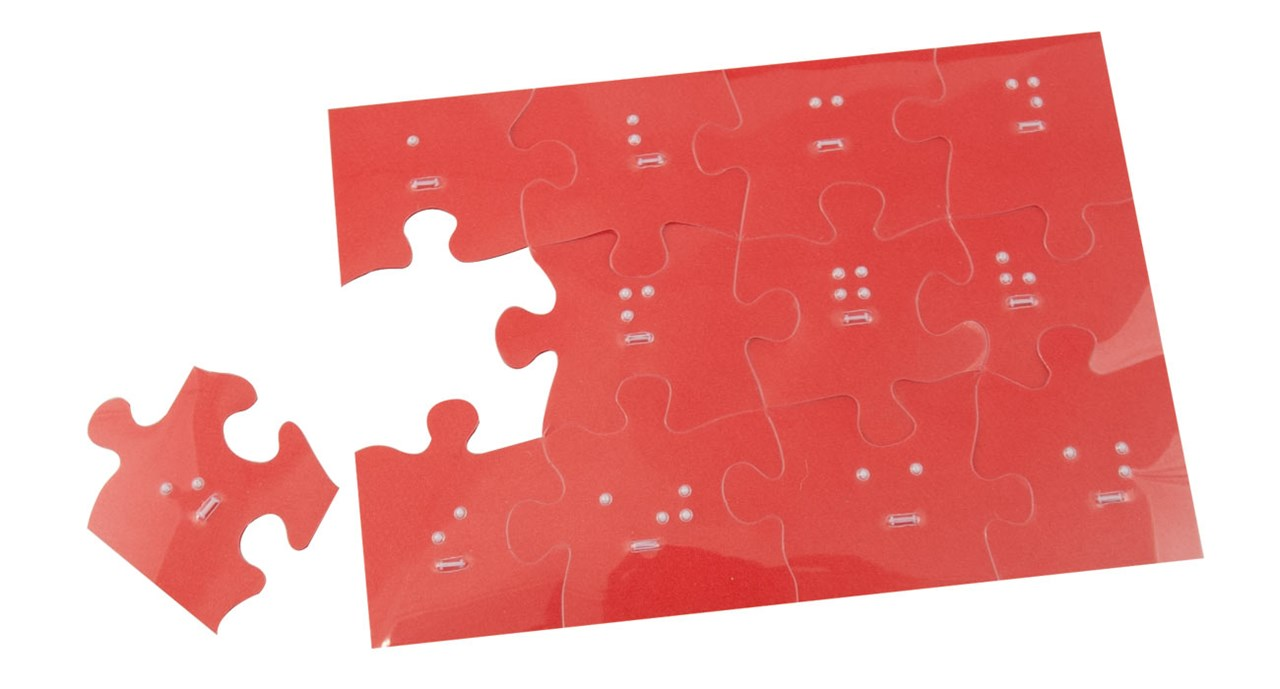Braille Jigsaw Puzzle 5x7
