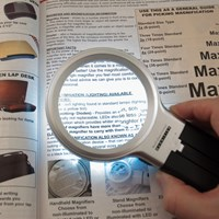 Multifunction Handheld+Hands-Free Dual Power LED Magnifier - 3x + 4.5x
