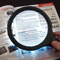 Jumbo Dual Power LED Magnifier - 1.8x + 5x