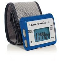 Shake-n-Wake ZZZ Vibrating Alarm Clock Watch - Blue