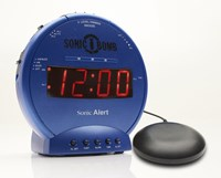 Sonic Bomb Alarm Clock and Bed Shaker - Blue