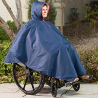 Wheelchair Winter Poncho-Unisex-Adult-Navy