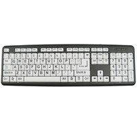 XLSee Large Print Keyboard - Black on White
