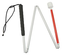Europa Folding Cane w-Reizen Marshmallow Hook Tip- 60-in.