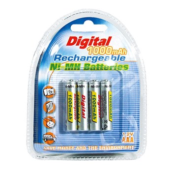 NiCd Rechargeable AAA Batteries- 4-Pk