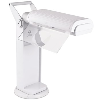 OttLite Classic 2x Magnifier Task Lamp with Swivel Base- White