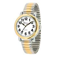 VocaTime Mens BI-COLOR Talking Watch- Stainless Steel Expansion