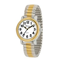 VocaTime Womens BI-COLOR Talking Watch- Stainless Steel Expansion