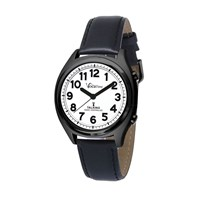 VocaTime Atomic Talking Watch - Black Case with Leather Band