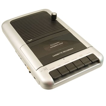 Portable Cassette Recorder-Player- Modified