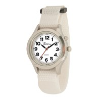 VocaTime Womens & Childrens Chrome Talking Watch White EZ Latch Band