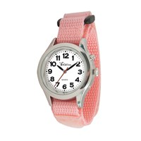 VocaTime Womens & Childrens Chrome Talking Watch Pink EZ Latch Band