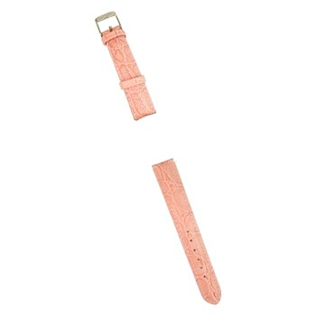 Pink Leather Band for Ladies Talking Watch-Chrome