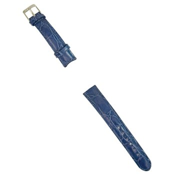 Blue Leather Band for Ladies Talking Watch-Chrome