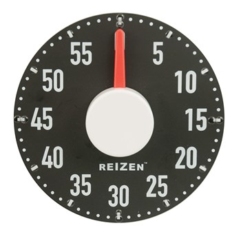 Extra Large Tactile Magnetic Kitchen Timer - Black with White Dial