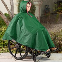 Wheelchair Winter Poncho-Unisex-Adult-Forest Green