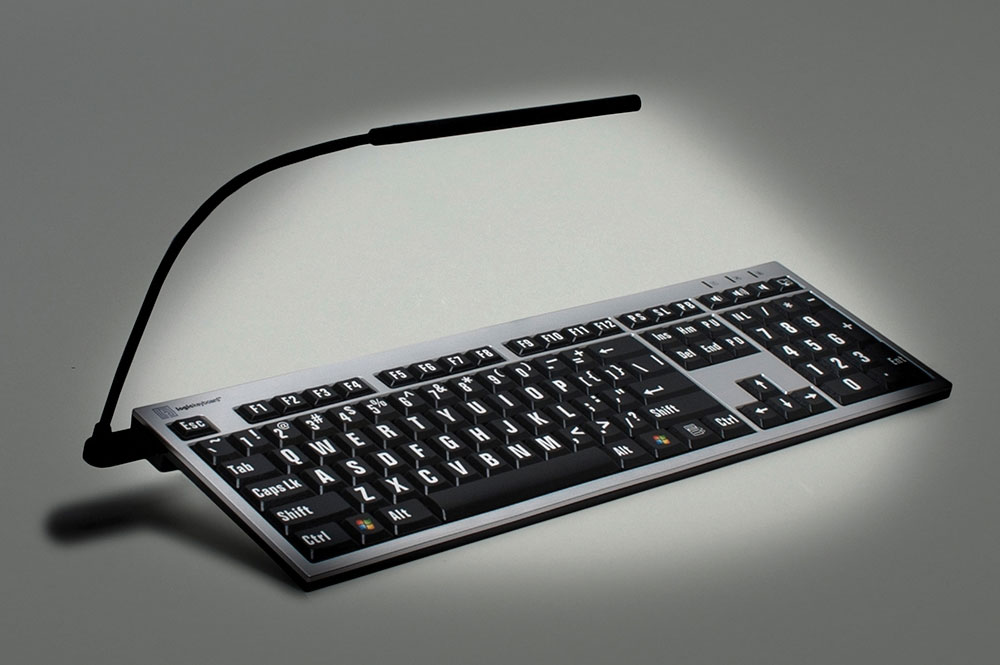 Maxiaids Large Print Keyboard For Mac White Print On