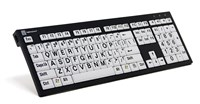 XL Print PC Keyboard Black on White
