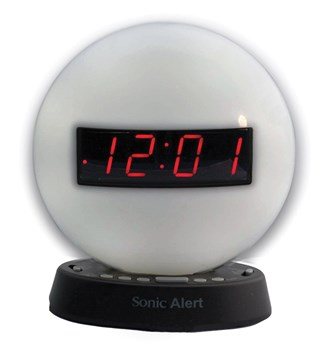The Sonic Glow Alarm Clock with Recordable Alarm and USB Charging Port