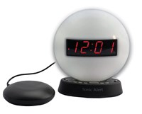 The Sonic Glow Nightlight Alarm Clock with Recordable Alarm