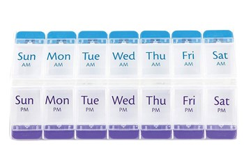AM PM Push Button Weekly Pill Planner XL