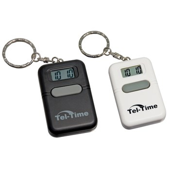 Tel-Time Talking Key Chain 2 Pack (Square Black and White)