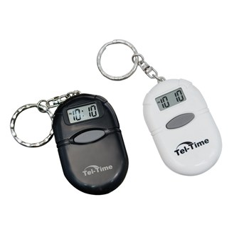 Oval Talking Keychain 2 Pack (Black and White)