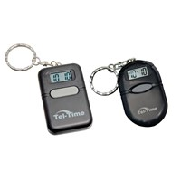 Tel-Time Talking Key Chain 2 Pack (Square and Oval Black)