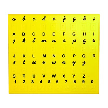 Braille English Alphabet Trainer Plate