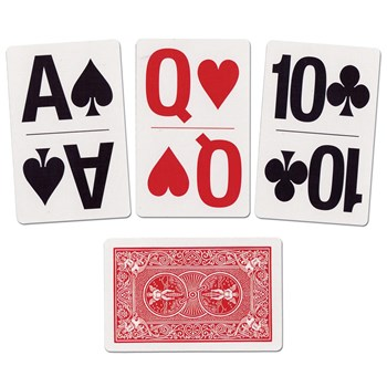 Large Print Bridge Size Playing Cards - Includes 3 decks