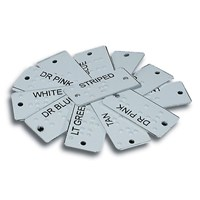 Aluminum Braille Clothing Identifiers