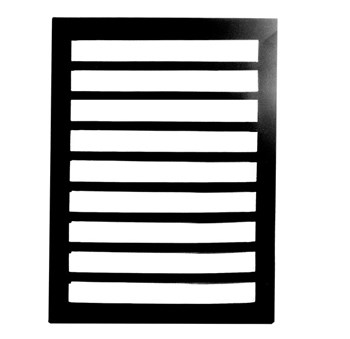 Wide Space Writing Guide - Regular Black Plastic