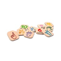 Braille Wooden Hand Sign Numbers 1-10