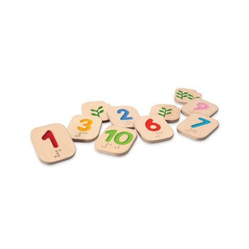 Braille Wooden Numbers 1 - 10
