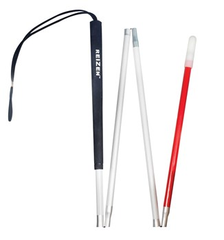 EUROPA Folding Aluminum Cane -4 Section  - 54 inches