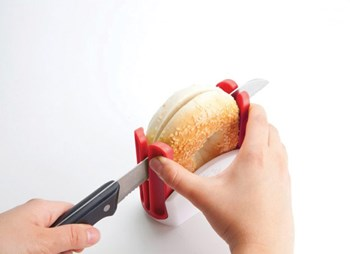 Safety Bagel Slicer for Easy Living