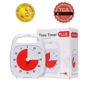 Time Timer Plus - 60 Minute - White
