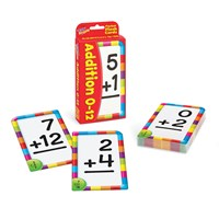 Low Vision Addition 0-12 Pocket Flash Cards