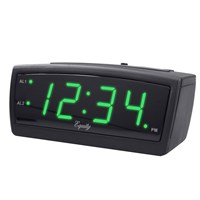La Crosse Green LED Alarm Clock