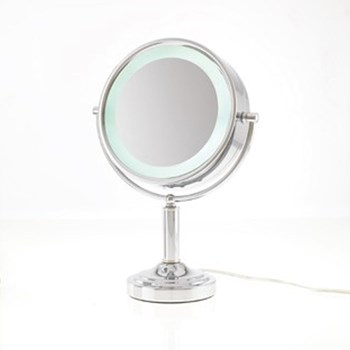 Danielle LED Lit Double Sided Vanity Mirror 15x- Chrome