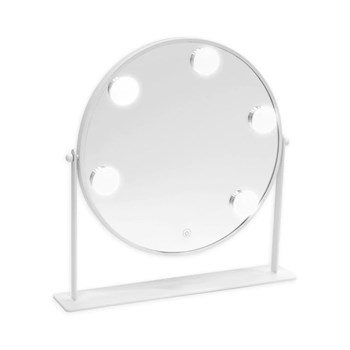 Danielle Round LED Hollywood Vanity Mirror- White