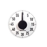 Extra Large Tactile Magnetic Kitchen Timer - White with Black Dial