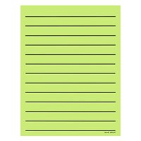 Bold Line Paper Pad in Neon Green with Black Lines - 90 Sheets