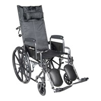 Silver Sport Full-Reclining Wheelchair - 18 in. w-Desk Arms