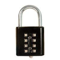 Tactile Push-Button Combination Padlock - Black