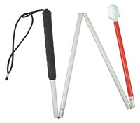 Europa Folding Cane w-Reizen Marshmallow Hook Tip- 44-in.