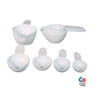 POURfect Braille Measuring Cup Set- 9 Pieces- Ice Blue
