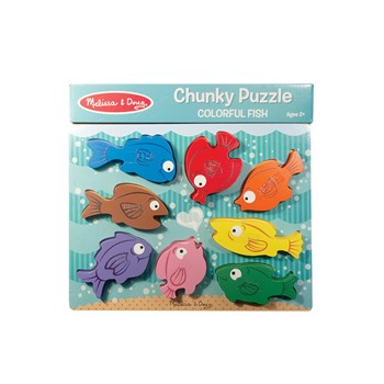 Colorful Fish Chunky Puzzle with Braille