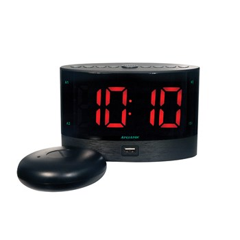 Digital Alarm Clock with Wireless Bed Shaker